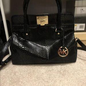 Michael Kors Leather Python crossbody bag